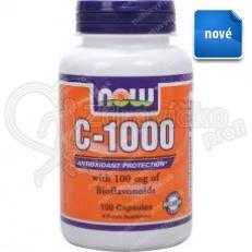 NOW Vitamín C 1000mg 100tbl. s predľženým účinkom a šípkami